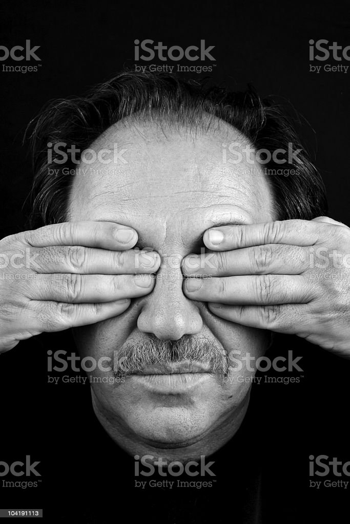 Blind man royalty-free stock photo
