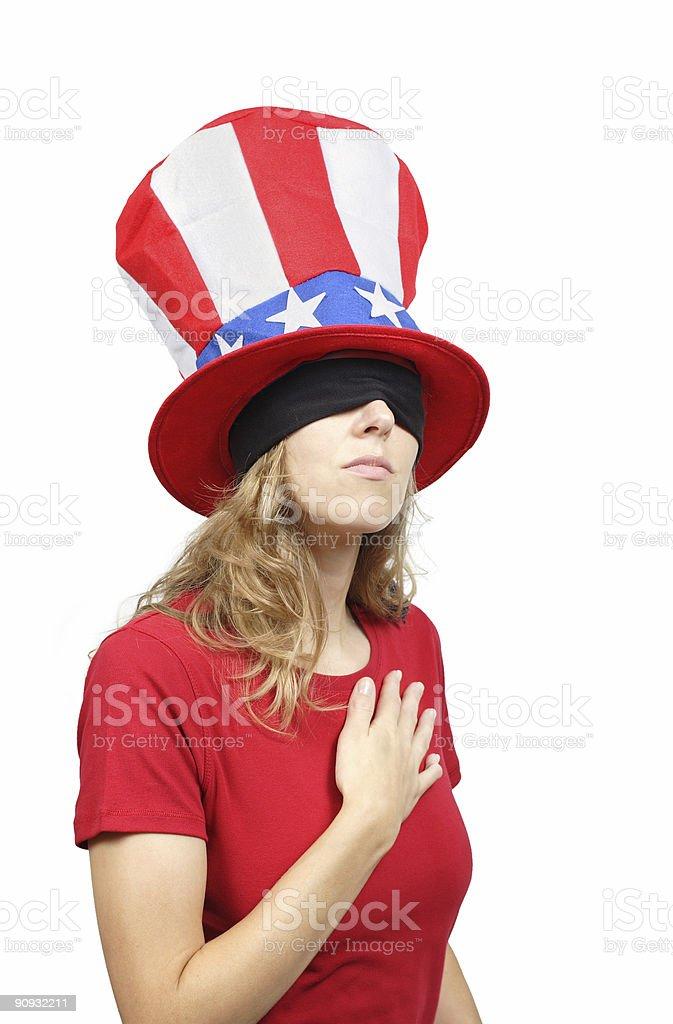 Blind Patriot Series royalty-free stock photo