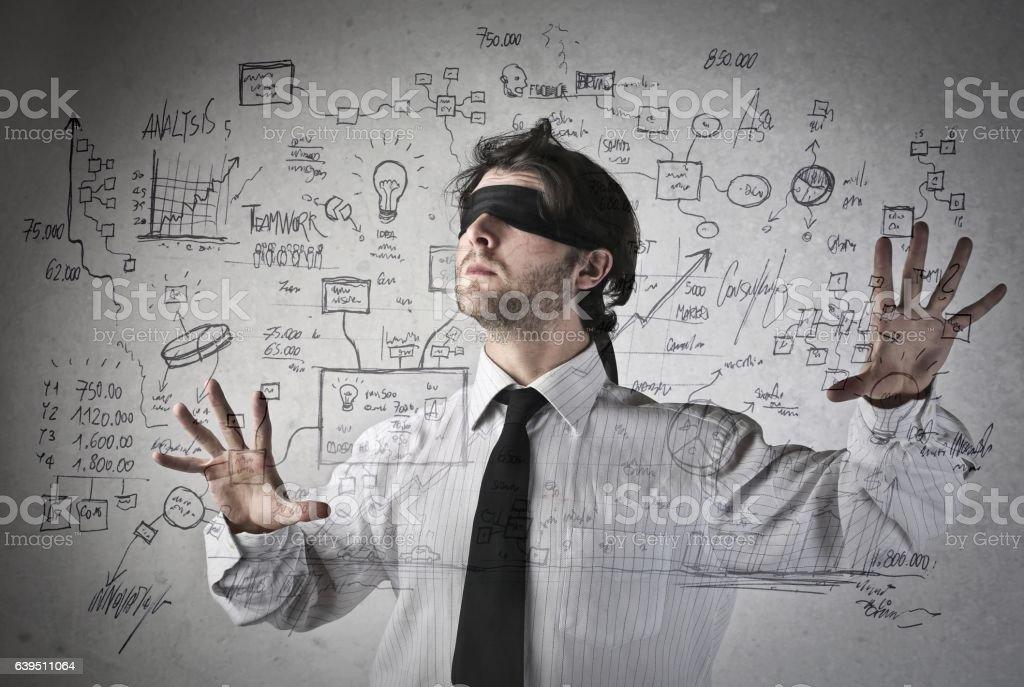 Blind stock photo