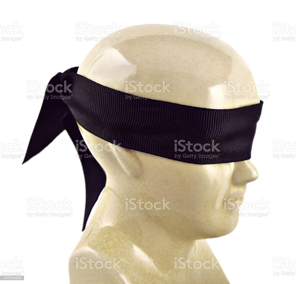 Blind Statue stock photo