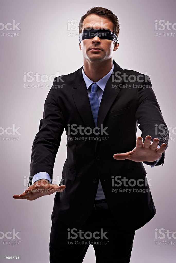 Blinded by his success stock photo