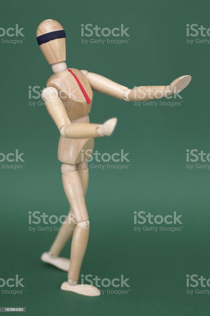 Blindfolded Figurine stock photo
