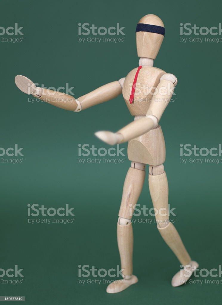 Blindfolded Figurine XL stock photo
