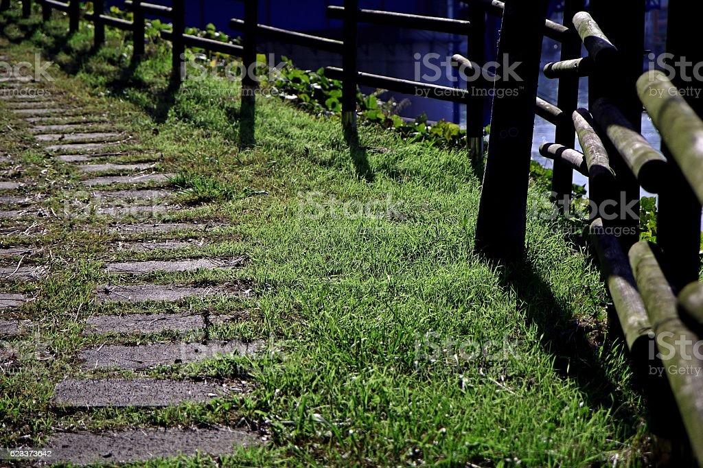 blinding path stock photo
