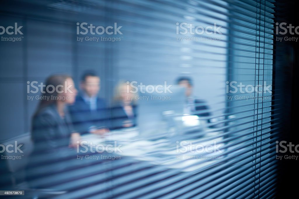 Blinds for conspiracy stock photo