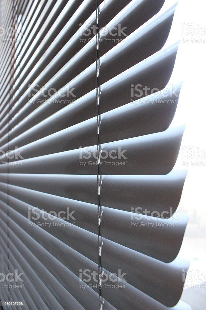 Blinds on window stock photo