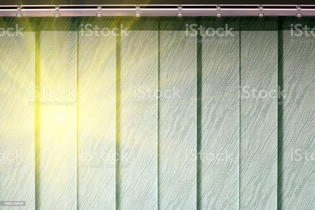 Blinds protect from the sun stock photo