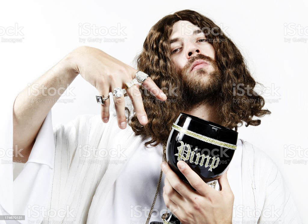 Bling-Bling Jesus royalty-free stock photo