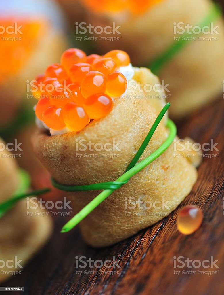 Blini Appetizers stock photo