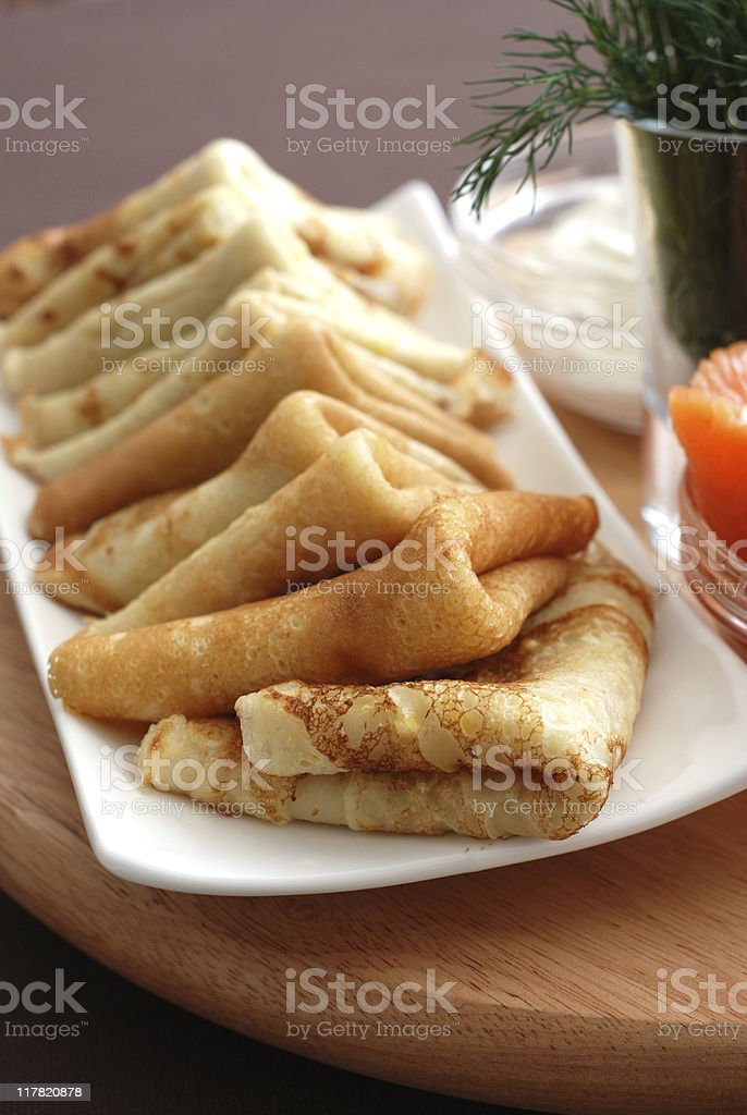 Blinis royalty-free stock photo