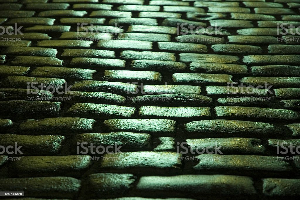blinking stoned road stock photo