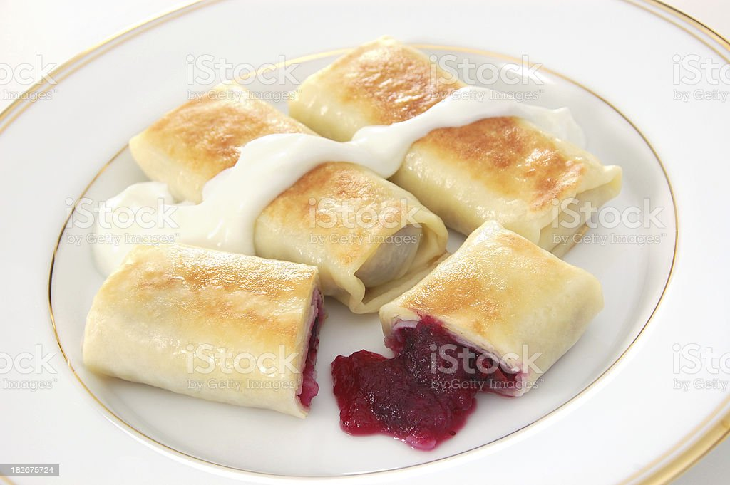 Blintzes royalty-free stock photo