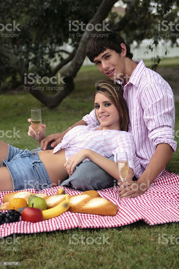 Bliss and Daniel: Lean. royalty-free stock photo