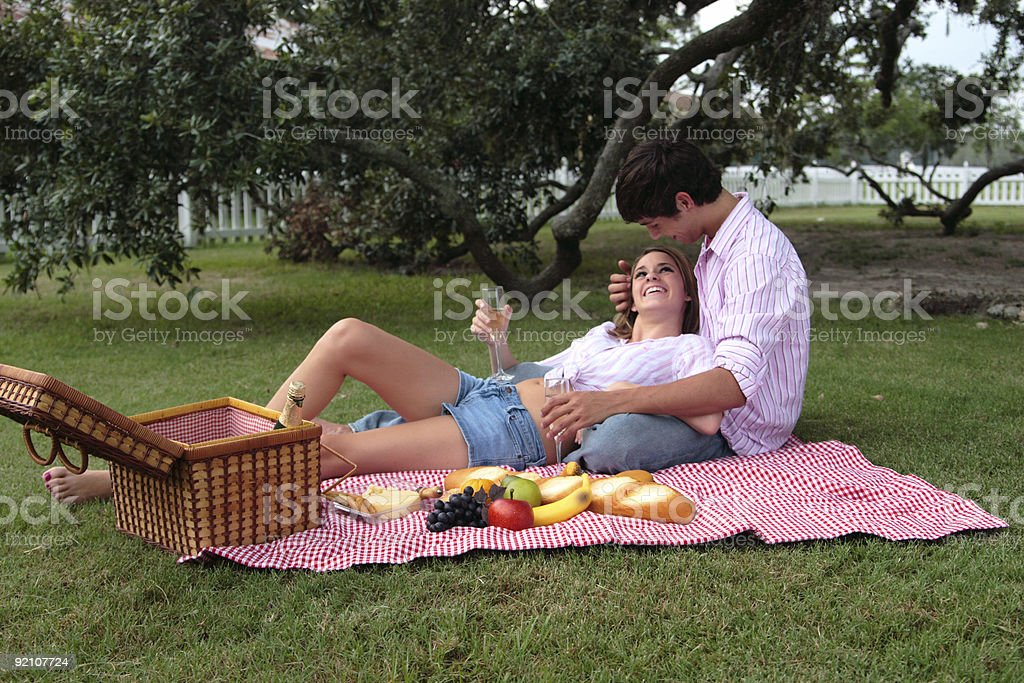 Bliss and Daniel: Smiling. royalty-free stock photo