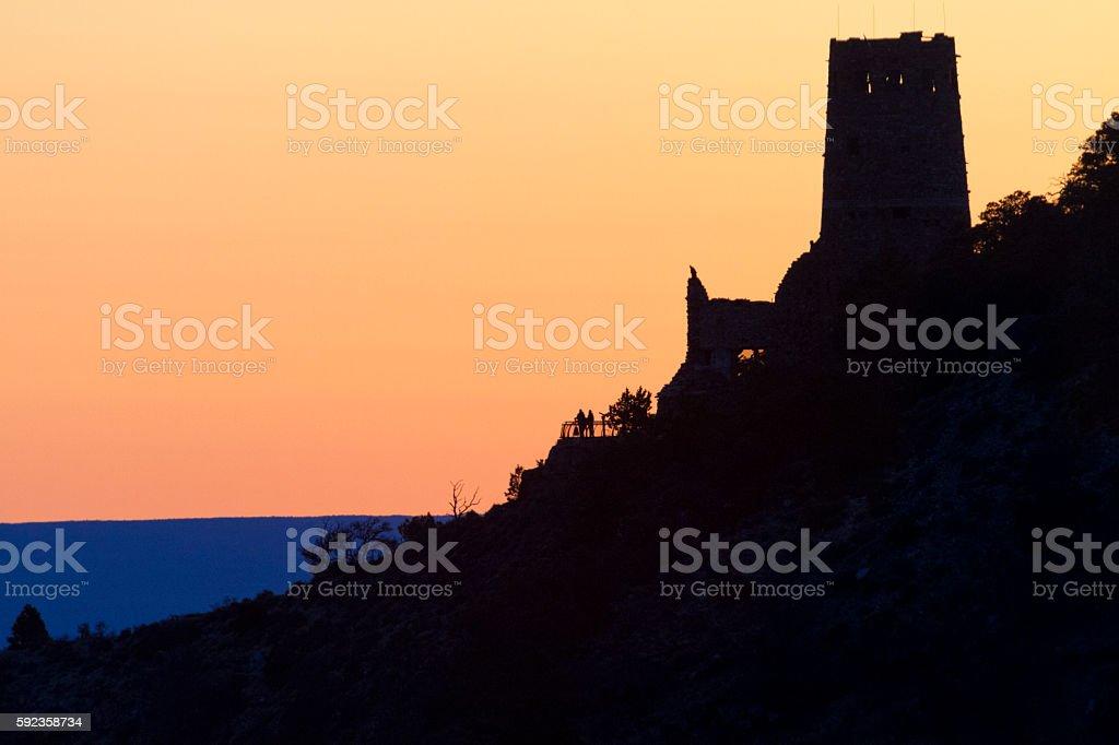 Blissful Grand Canyon Sunrise stock photo