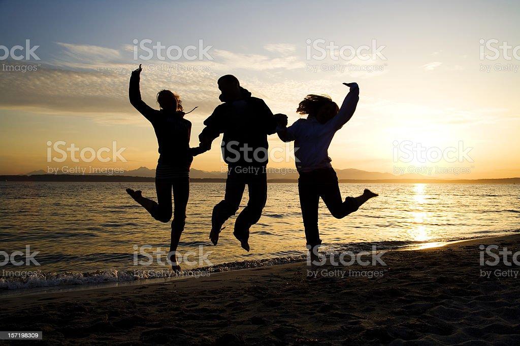 Blissful Summer Trio stock photo