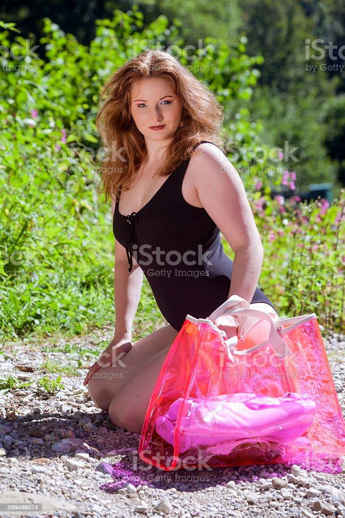 blissful sunny day stock photo