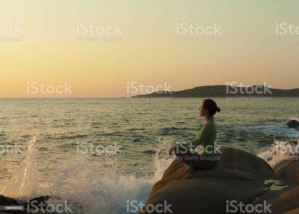Blissfull morning royalty-free stock photo