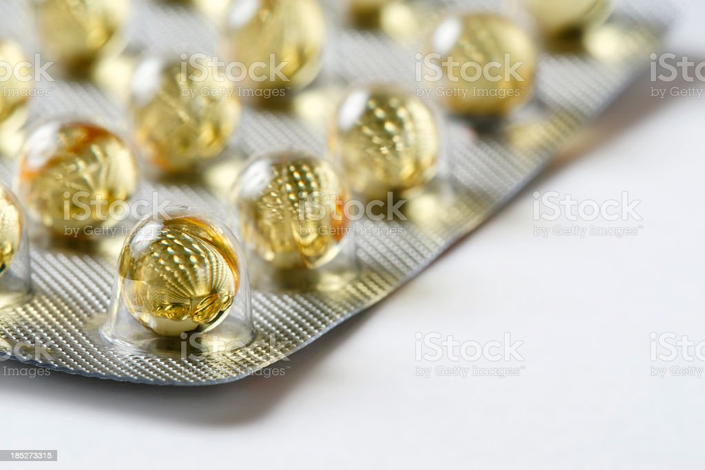 Blister pack of capsules stock photo