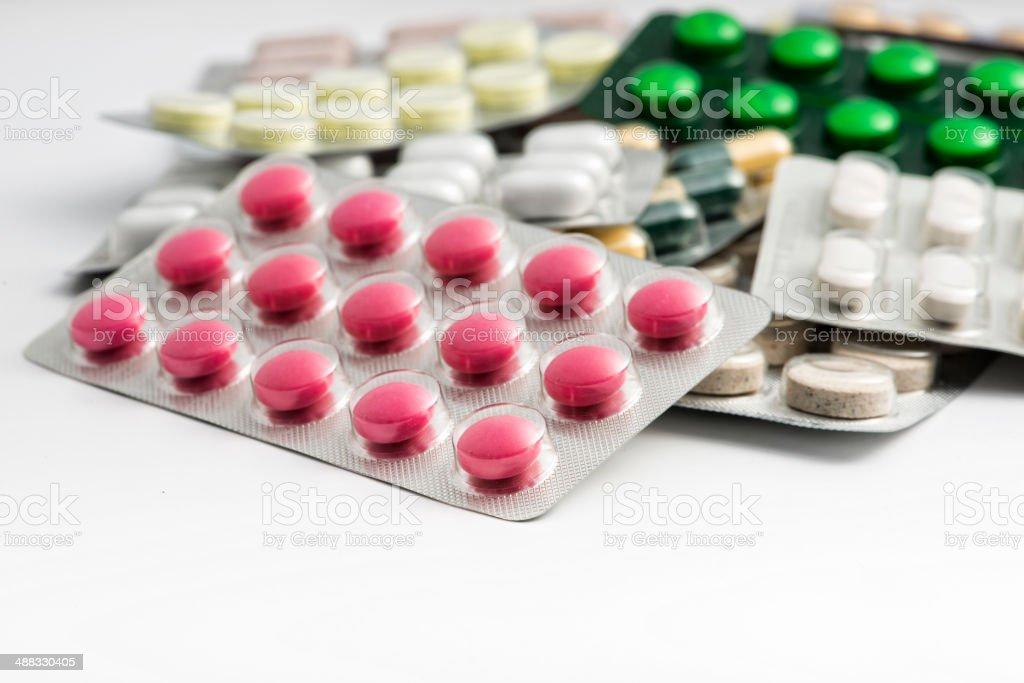 Blister packs stock photo