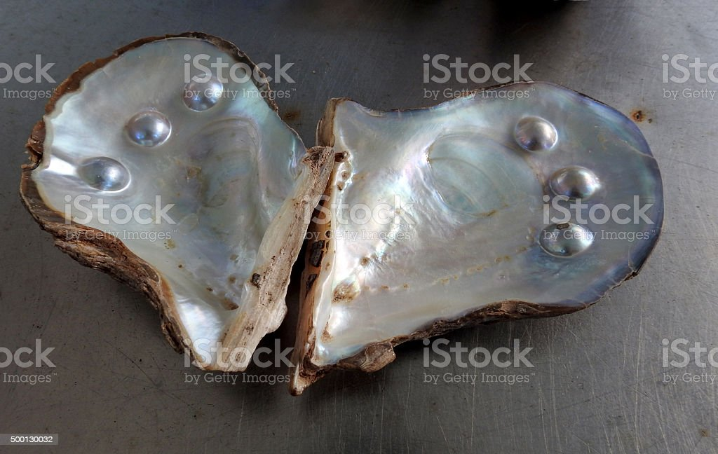 blister pearls stock photo