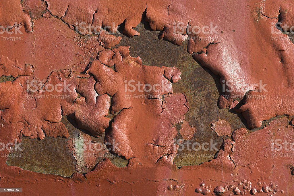 Blistered Paint stock photo