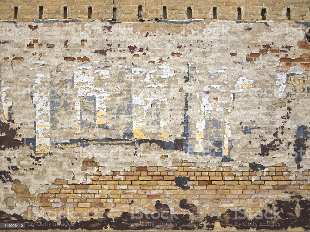 Blistered Wall royalty-free stock photo
