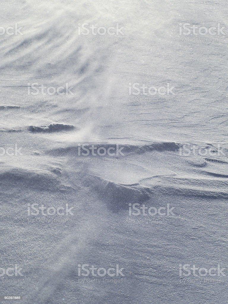 Blizzard - drifting snow royalty-free stock photo