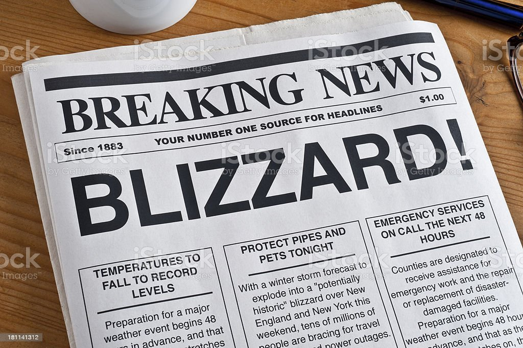 Blizzard Headline royalty-free stock photo