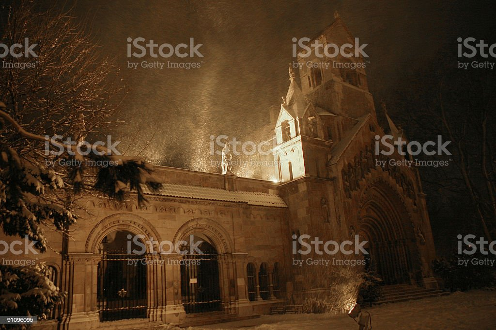 Blizzard in Budapest royalty-free stock photo