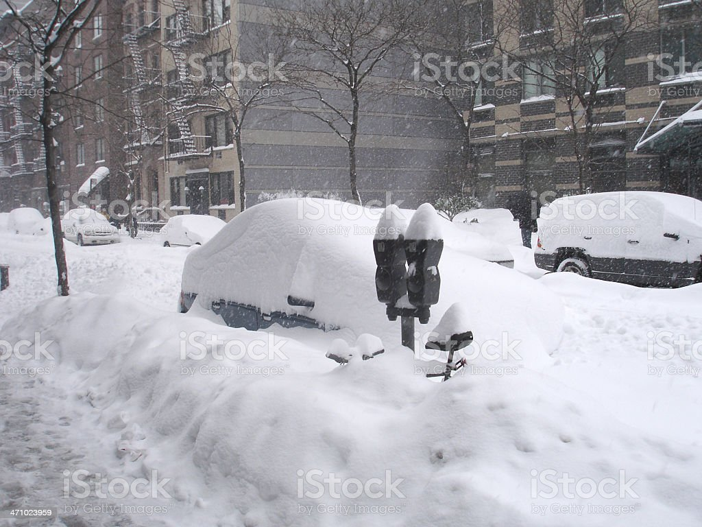 Blizzard of 2006 in NYC royalty-free stock photo