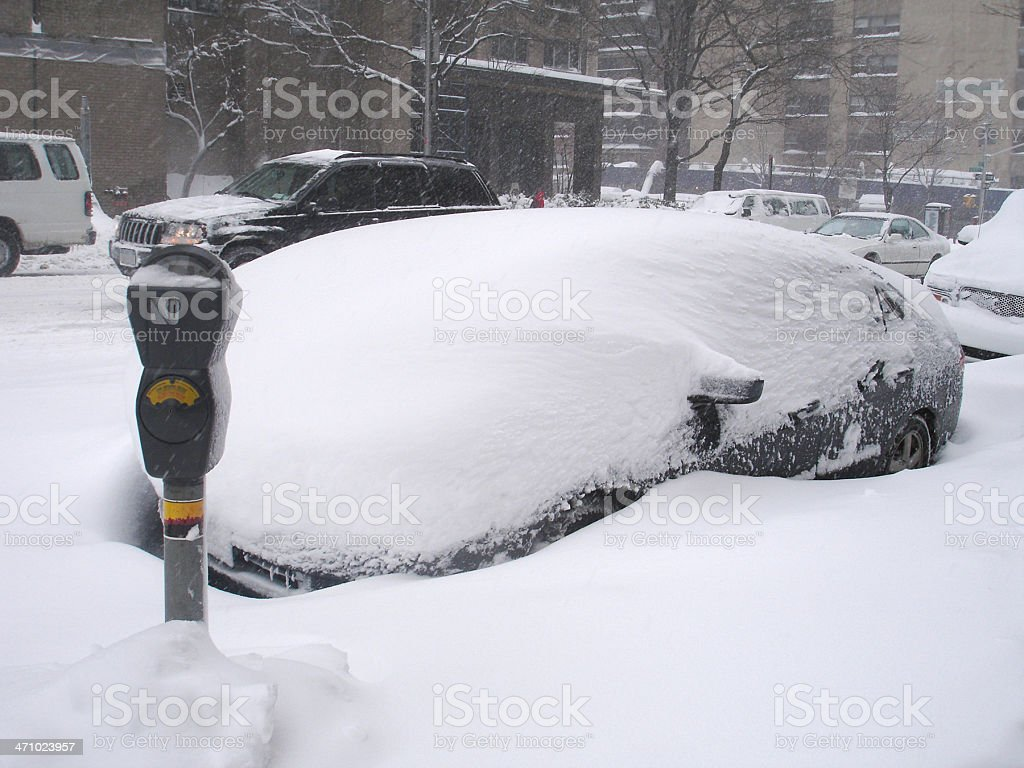 Blizzard of 2006 - NYC royalty-free stock photo