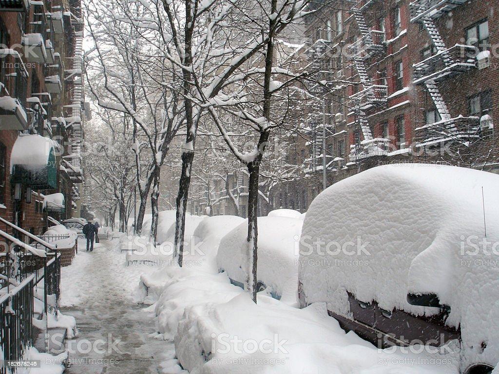 NYC Blizzard royalty-free stock photo
