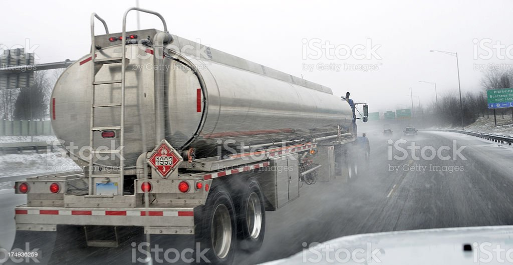 Blizzard travel royalty-free stock photo