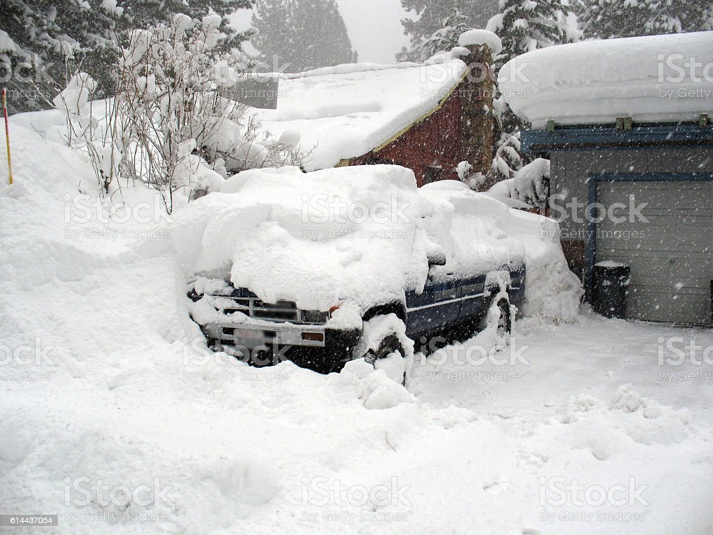 Blizzard Truck stock photo