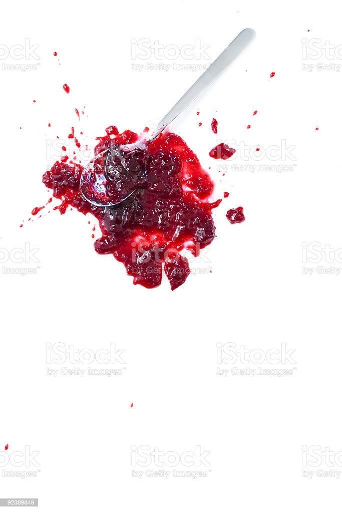 Blob of sour cherry jam royalty-free stock photo