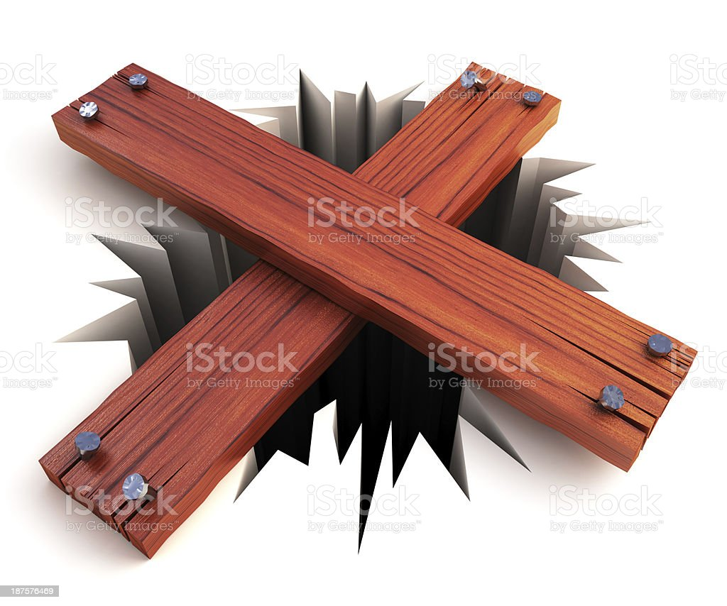 Block a hole concept royalty-free stock photo