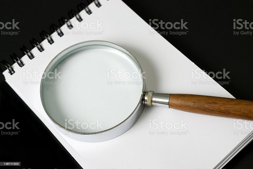 Block and Loupe royalty-free stock photo