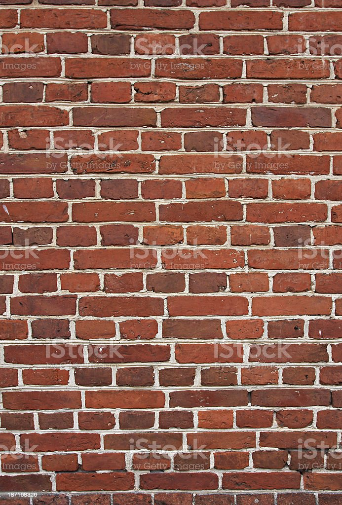 block background . old brick wall of red bricks. royalty-free stock photo