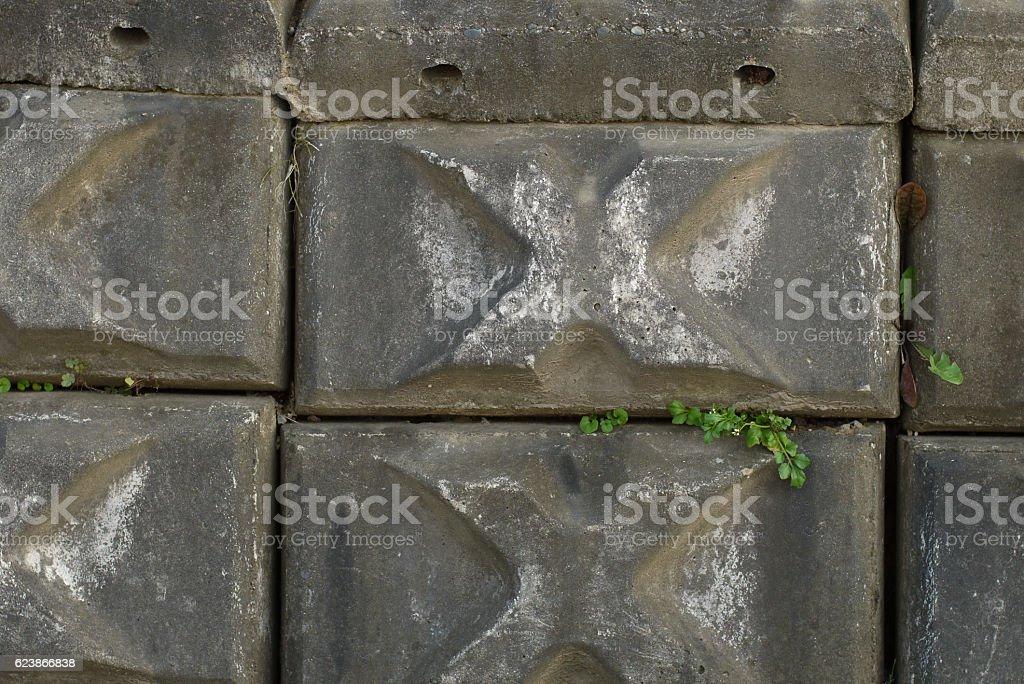 Block fence stock photo