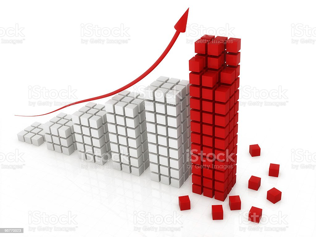 block graph royalty-free stock vector art