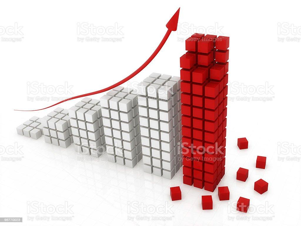 block graph royalty-free stock photo