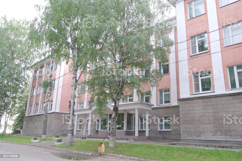 Block House in Syktyvkar stock photo