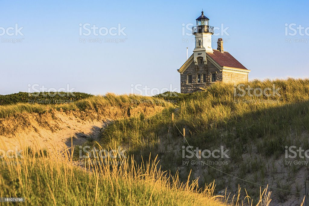 Block Island North Lighthouse stock photo