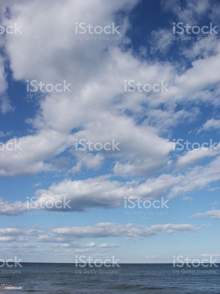 Block Island sea and sky royalty-free stock photo