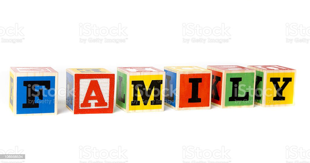 Block Letters- Family royalty-free stock photo