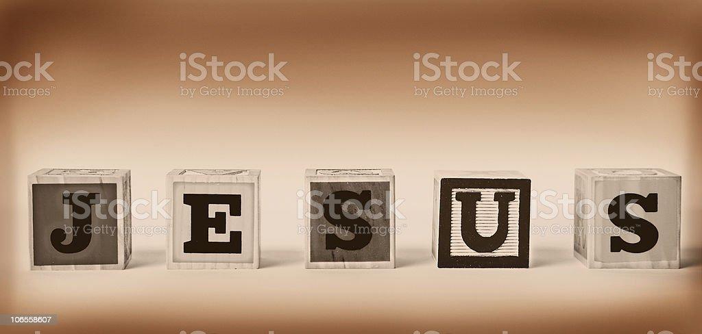 Block Letters- Jesus royalty-free stock photo
