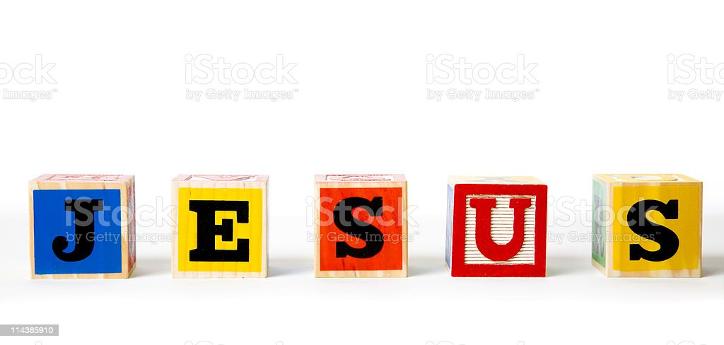 Block Letters- Jesus royalty-free stock photo