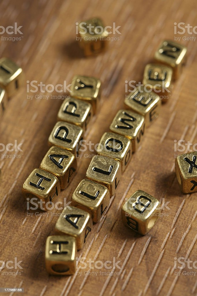Block letters (happy halloween) royalty-free stock photo