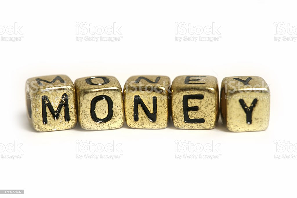 Block letters (money) royalty-free stock photo